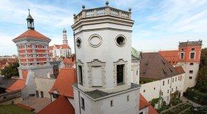 Die Stadt Augsburg mit seiner Historischen Wasserwirtschaft - hier die Wassertürme am Roten Tor - zählt seit Juli 2019 zum UNESCO Welterbe. © Reinhard Palland
