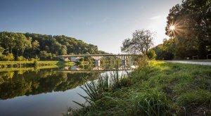 Donaubrücke unterhalb der Reisensburg bei Günzburg. © Fouad Vollmer