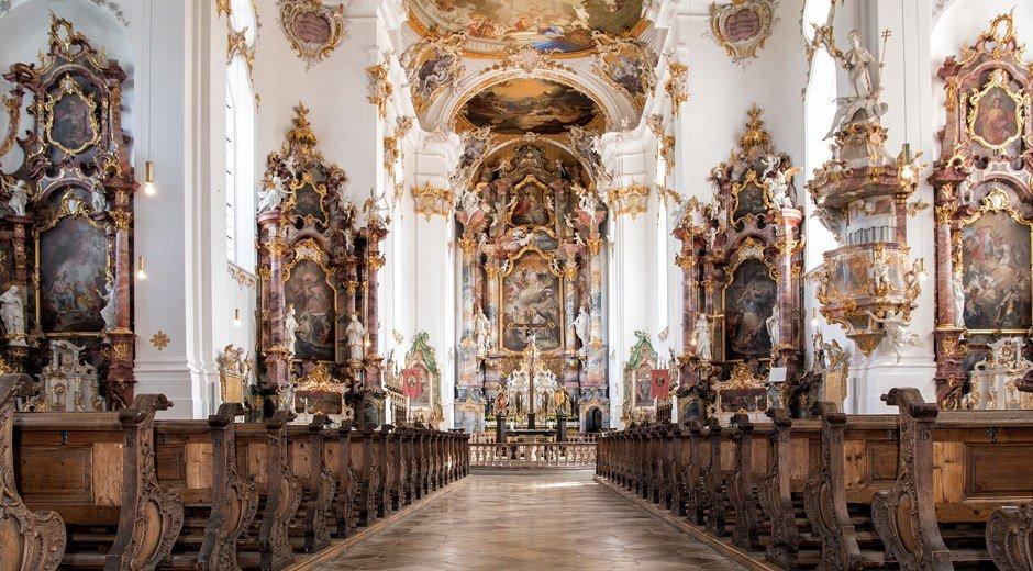 Barocke Pracht in der Klosterkirche Roggenburg © Trykowski