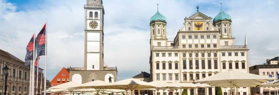 Augsburg, Rathaus(platz) © Regio Augsburg Tourismus, T. Linkel