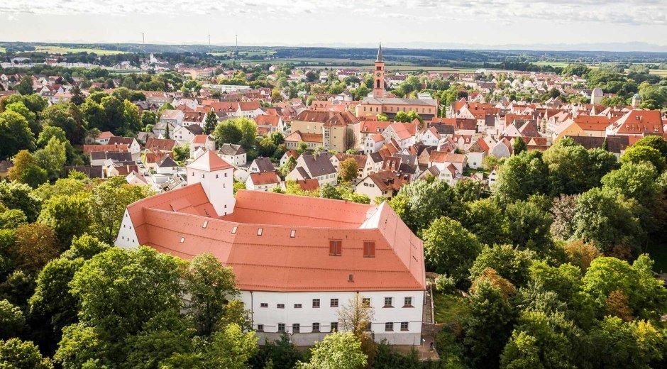 Luftaufnahme von Friedberg © Stefan Heinrich/Kleeblatt-Medien