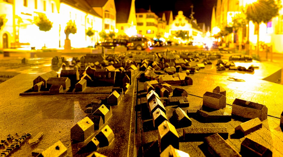Stadtmodell Aichach bei Nacht... © Rocco Liebold