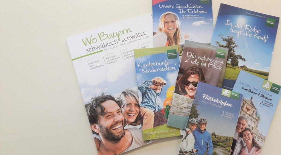 Broschüren zu allen Themen Bayerisch-Schwabens © TVABS