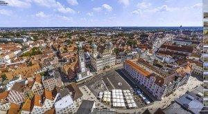 360° Panoramablick über das Rathaus in Augsburg, © Gerhard Ruff